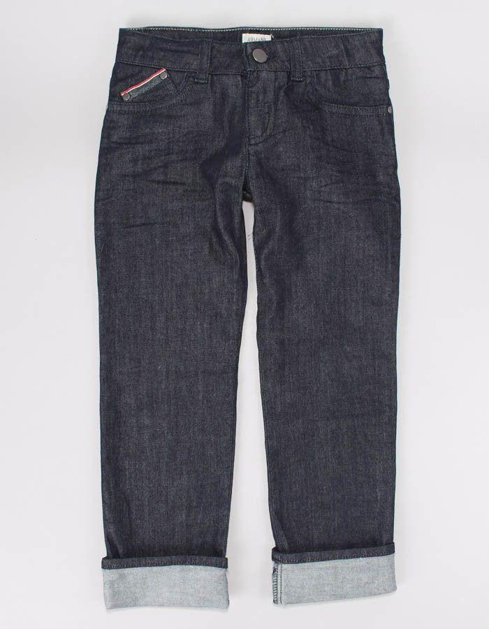 Armani Junior Indigo Pocket Trim Jeans   Accent Clothing