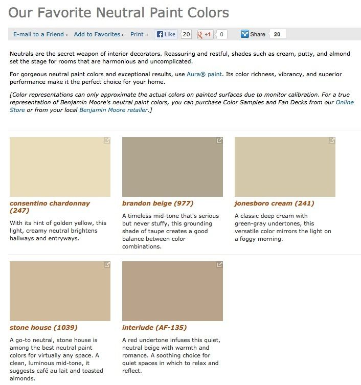 Favorite, Popular, U0026 Best Selling Shades Of Neutral Paint Colors From  Benjamin Moore.