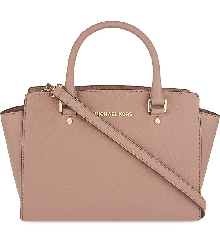 MICHAEL MICHAEL KORS - Selma medium Saffiano leather satchel | Selfridges.com