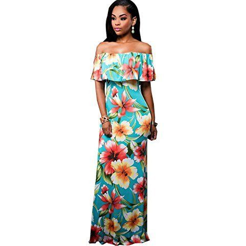 Off The Shoulder Bodycon Maxi Dress