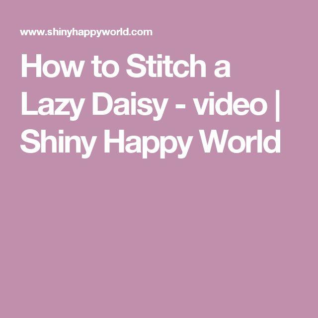 Lazy daisy в вышивке