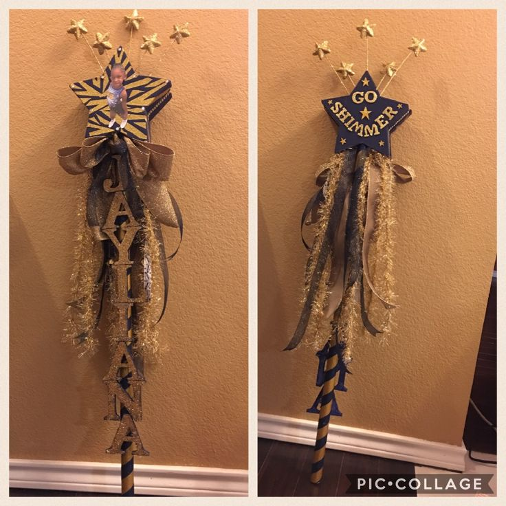 Spirit stick for cheer. DIY