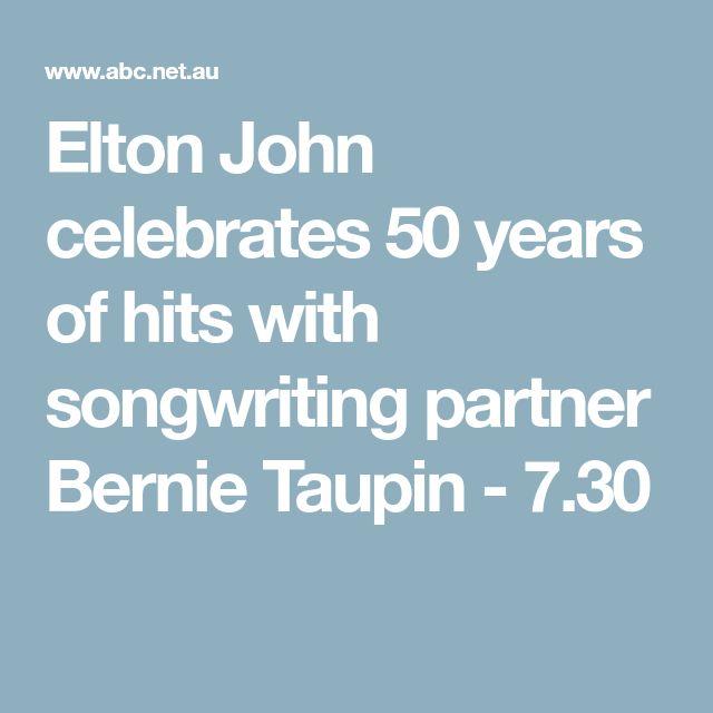 Elton John celebrates 50 years of hits with songwriting partner Bernie Taupin - 7.30