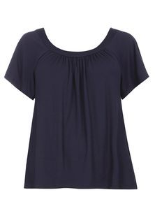 Navy Bardot Top