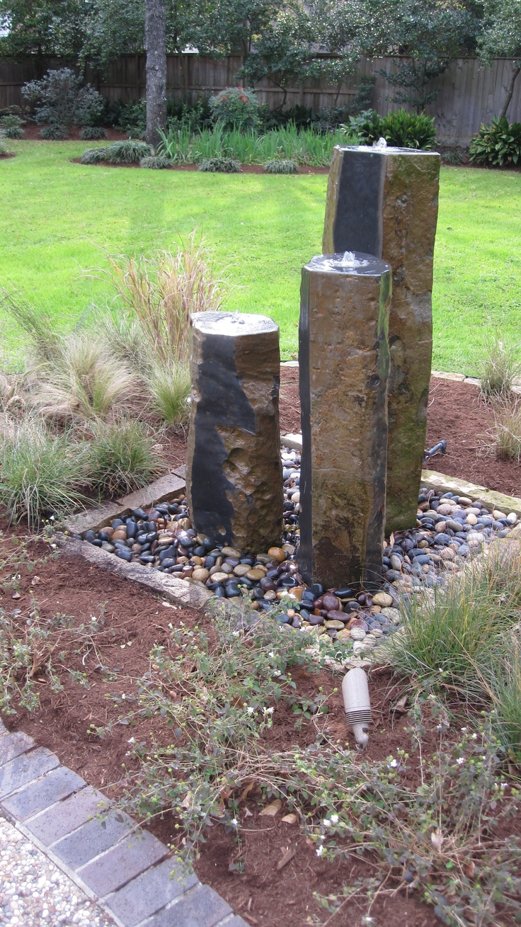 36 best images about rock fountain ideas on pinterest for Ornamental garden features