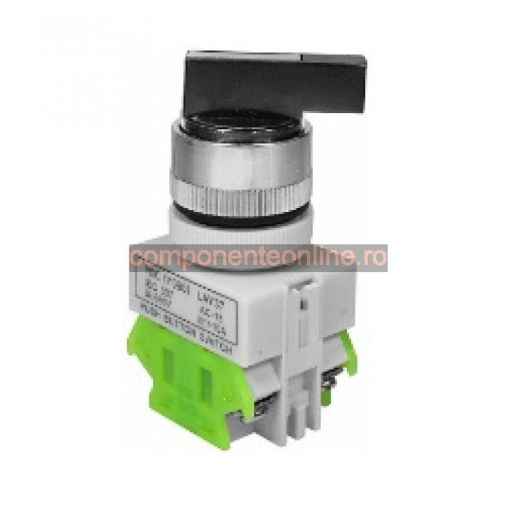 Comutator rotativ, ON-OFF-ON, cu retinere, 10A, 600V, 75x38x30mm - 169487