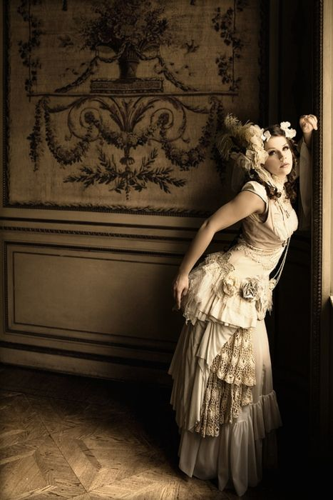#Victorian Inspired Outfit in Ivory