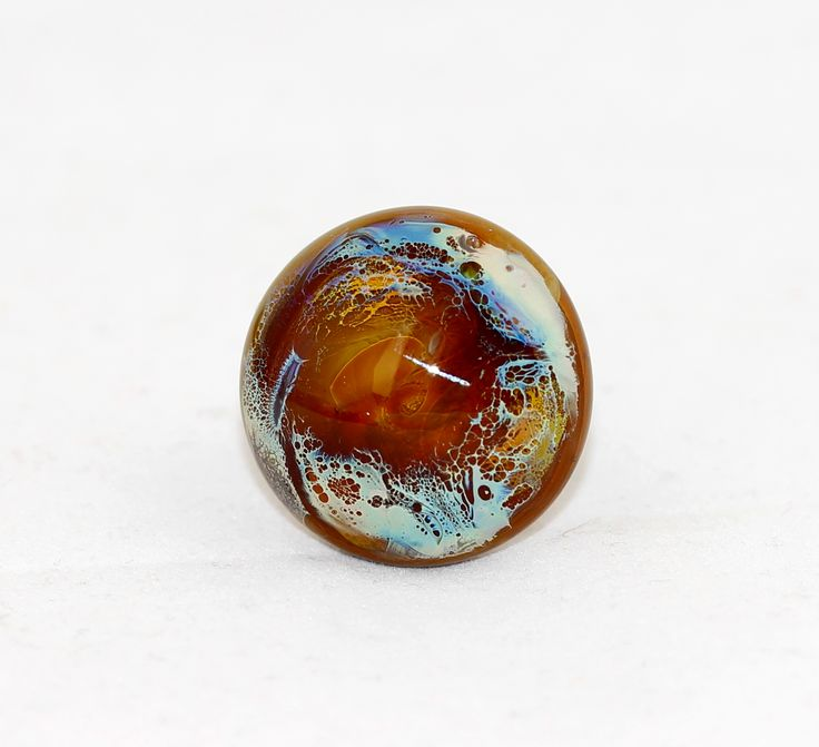 Glass ring used silver Reichenbach glass