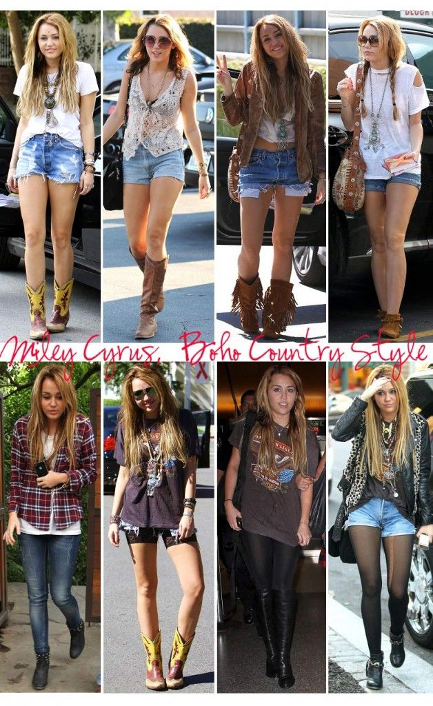 Miley Cyrus cresceu | Country style, Boho and Miley cyrusMiley Cyrus Bohemian Style