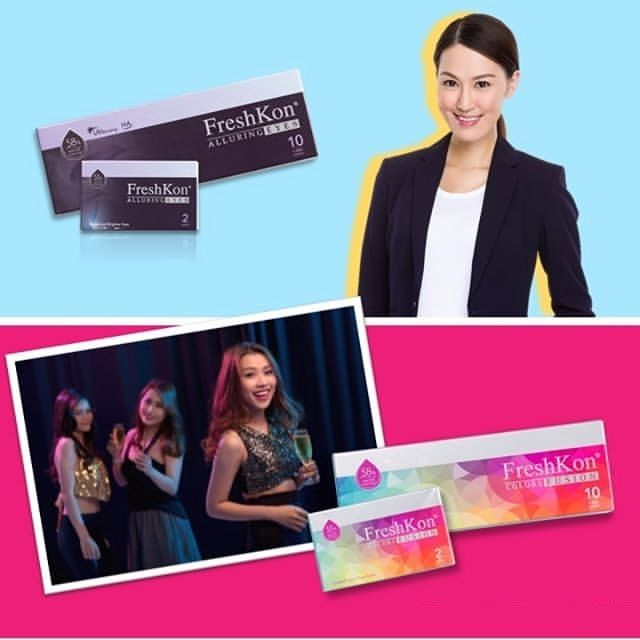 Look your best from work day to night out with friends with FreshKon Alluring Eyes & Colors Fusion contact lenses! Available in monthly and daily packaging!   #contactlenses #buycontactlensonline #contactlensonline #contactlensessingapore #disposablecontactlens #dailiescontactlens #freshkon #AlluringEyes