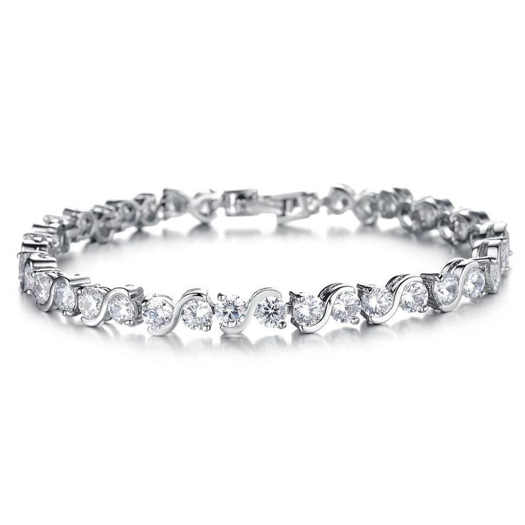 Platinum Metal Bracelet For Women Platinum Plated Bracelet Plating: Platinum Plated Stone: Cubic Zirconia High Quality Quality: AAA Nickel free,Lead free,Non-Allergic. American European Standard.  #JewelleryIndia #FashionJewelleryIndia #BraceletsIndia #Bracelets #GoldBracelets #TraditionalJewellery