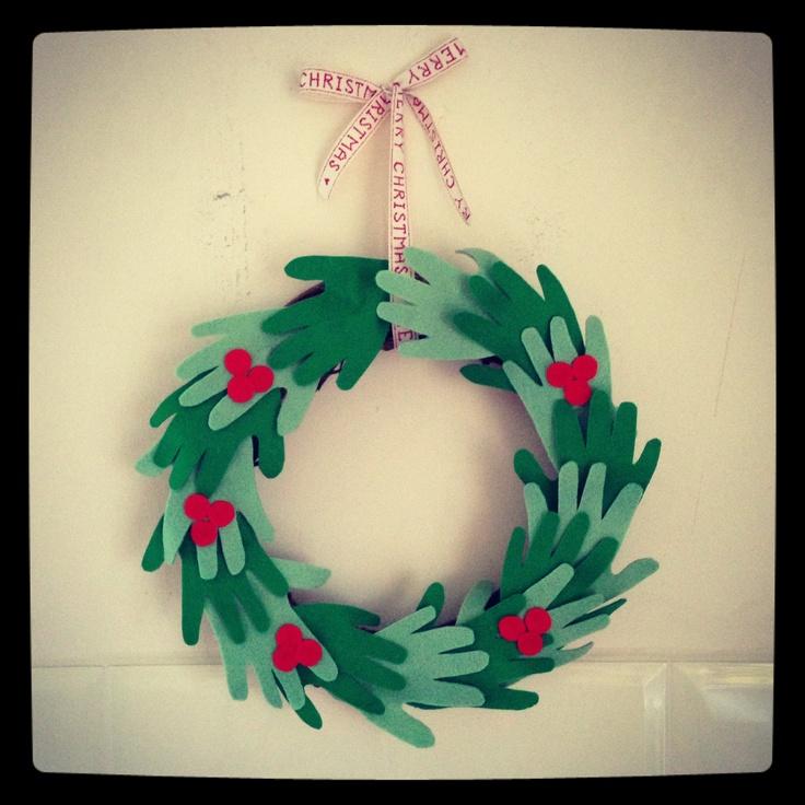 Felt handprint wreath