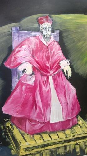 the painting at MAMAC, Nice