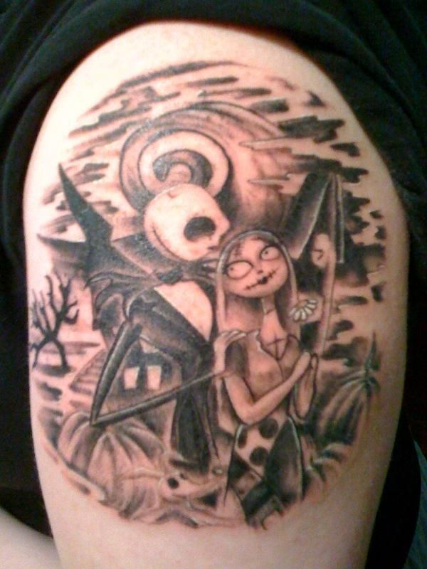 The stars of my sleeve. :) Gotta love Jack and Sally