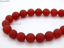 Mate 8mm Přírodní Red Achát drahokamy kameny Matné Kulaté Kulové Distanční Loose Korálky 15 '' 5 pramenů / Package (Čína (pevninská část))