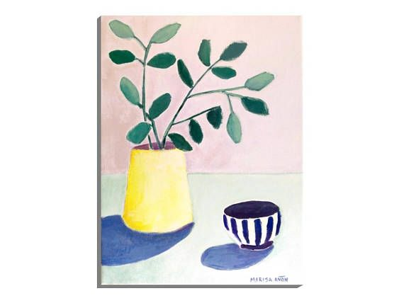 Plants and Flowers Small Floral Painting Leaves on