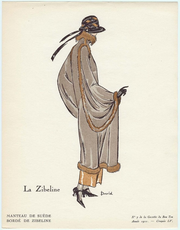 """La Zibeline"" Illustration from ""La Gazette du Bon Ton"