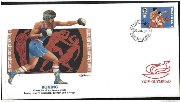 FDC - OLYMPICS SEOUL - 1988 - SWAZILAND ( stamp topic : boxing ) - Delcampe.net