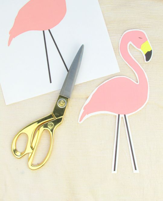 DIY No-sew Flamingo Lumbar Pillow