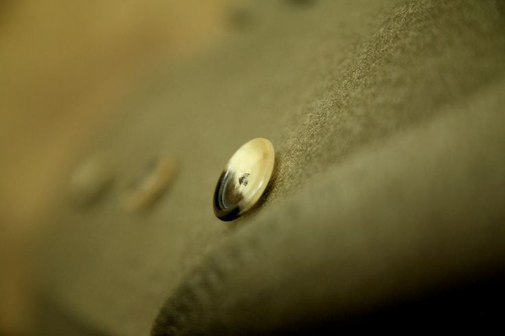 Button detail from a traditional Covert Coat, made for one of our Viennese clients.