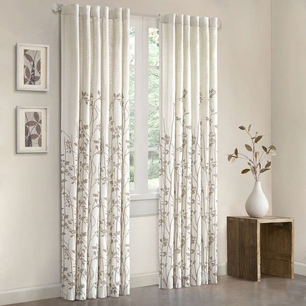 Madison Park Aramo 84 Inch Single Curtain Panel 50x84