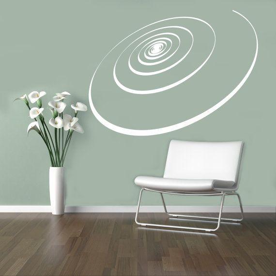 Spiraal lint muur Decal optische illusie Vinyl door USAmadeproducts