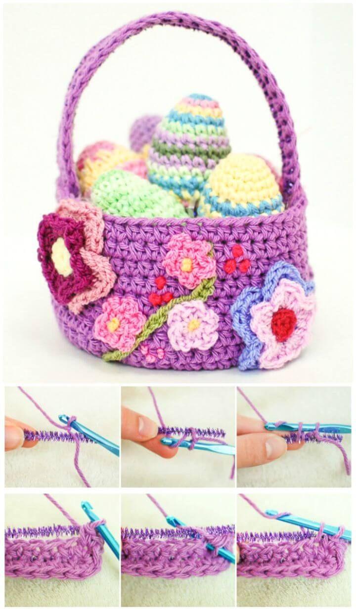 45 Free Crochet Basket Patterns For Beginners Crochet Pinterest