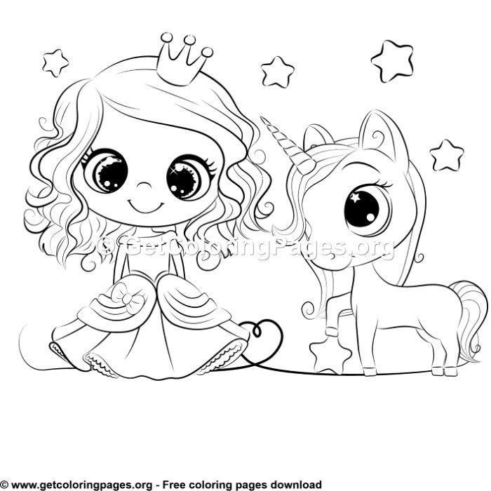 Cartoon Princess And Unicorn Coloring Sheet Cartoon Coloring Pages Unicorn Coloring Pages Princess Cartoon