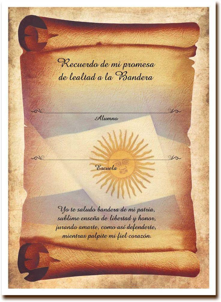 Resultado de imagen para como hacer diplomas de promesa a la bandera