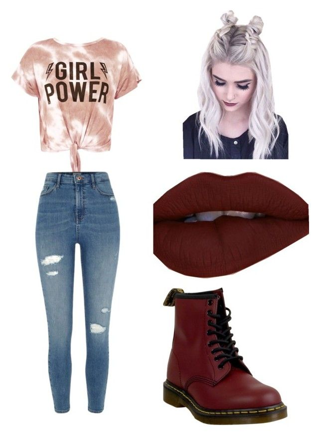 """Untitled #27"" by gmusc6 on Polyvore featuring Sans Souci, River Island and Dr. Martens"