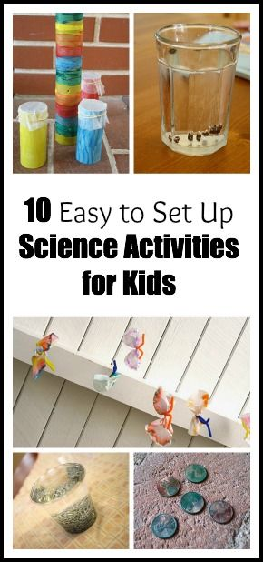 10 Easy Science Experiments ~ Buggy and Buddy -- fun and simple experiments that will appeal to kids!