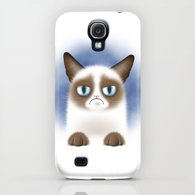 Grumpy Cat on Samsung Galaxy S4 case $35.00 #GrumpyCat #Samsung #Galaxy #S4 #cases #funny #cute