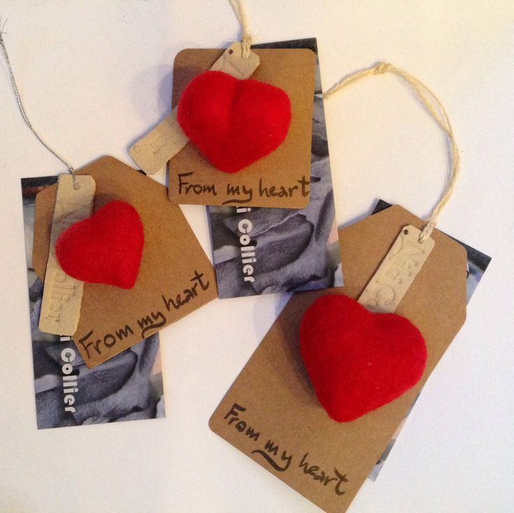 Valentine's Hearts- hand felted brooches
