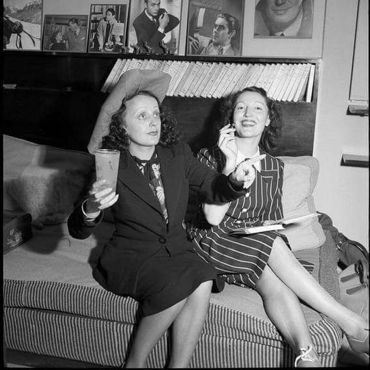 Édith and Marguerite Monnot 1941 ❤🌹💞😙 || #edithpiaf #edith #piaf #lamômepiaf #piafforever #margueritemonnot #1941 #❤🌹💞😙