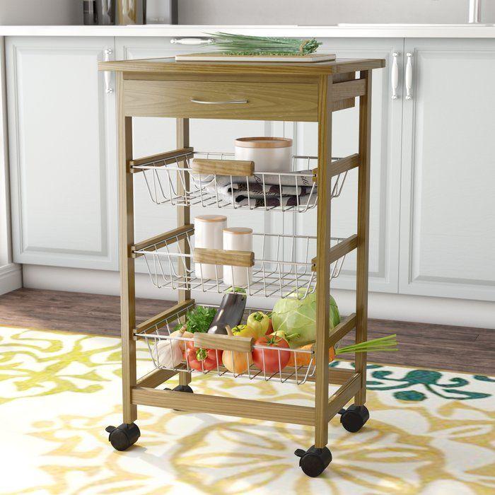 Stratford Kitchen Cart With Wood Top Kitchen Cart Kitchen