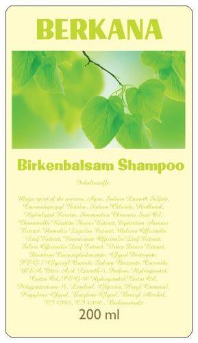 Birkenbalsam Shampoo strapaziertes Haar, gereizte Kopfhaut, Schuppen