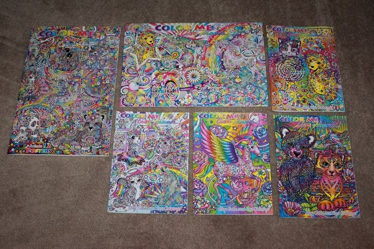 Lisa Frank Adult Coloring Book Giant Lot 2016 Limited Edition Collection