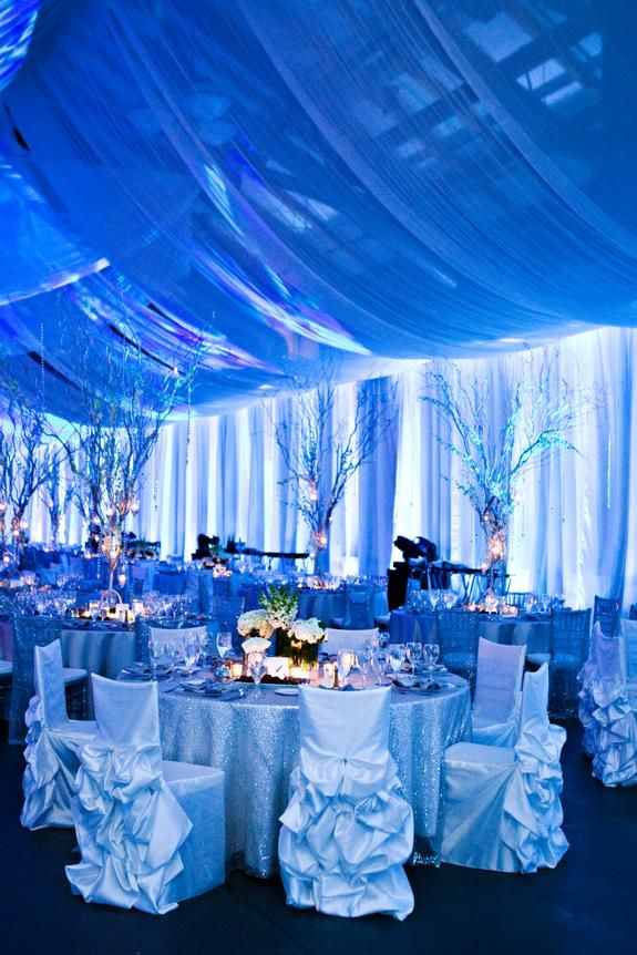 Silver chair covers | Linen Effects - Minneapolis, MN | Chair cover, table decor and linen rentals