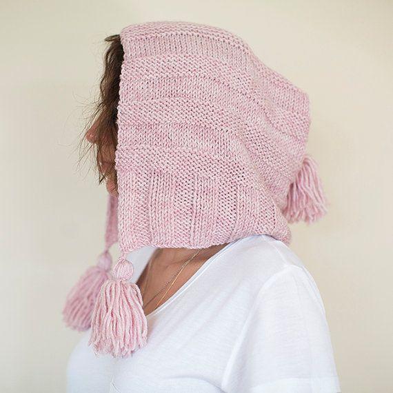 Knit Hat, Pixie Hat, Hooded Hat, Knit Pixie Hat, Pixie Beanie