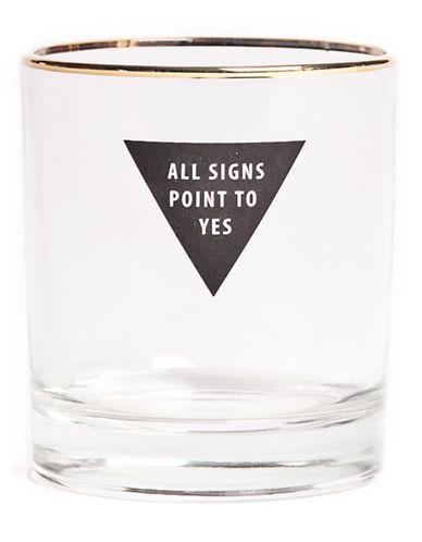 La Baie D'Hudson: Drake General Store - Ensemble de deux verres « All Signs » inspirés de la boule magique 8