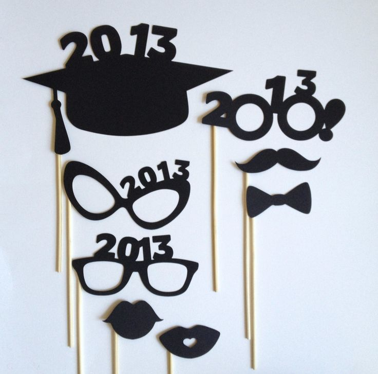 2013 Graduation Photo Booth Props  Grad Party  8 by CleverMarten, $5.00