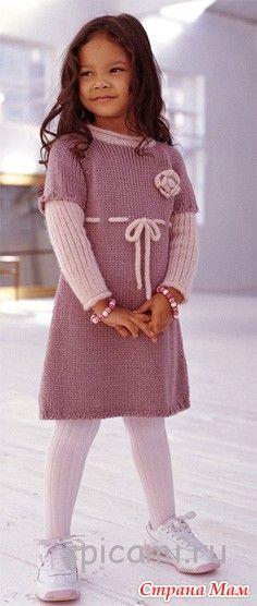 Вязание спицами: Платье на девочку - Страна Мам