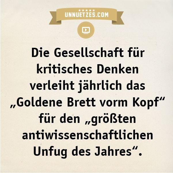 Der Gewinner 2013 ist: http://www.unnuetzes.com/wissen/10055/goldenes-brett/