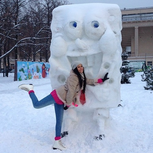 Spongebob snowman :)