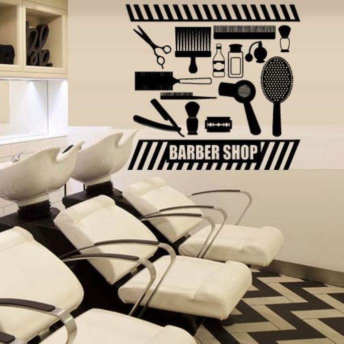 Stiker dinding untuk barbershop