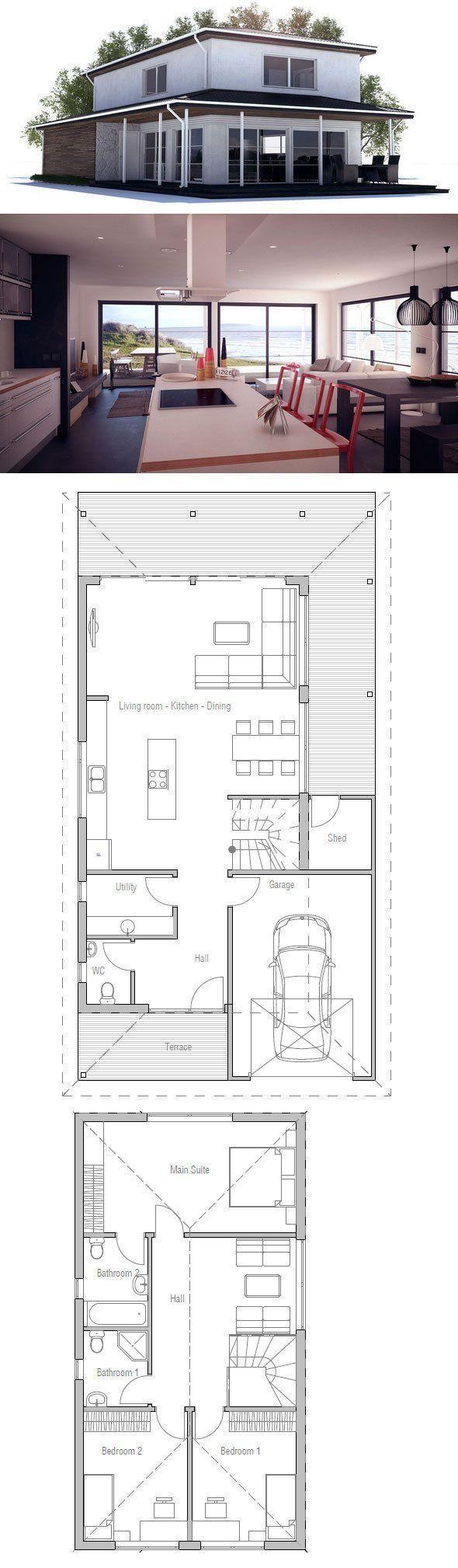 """Über 1.000 Ideen zu """"Schmale Hauspläne auf Pinterest Hauspläne ... size: 590 x 2018 post ID: 6 File size: 0 B"""