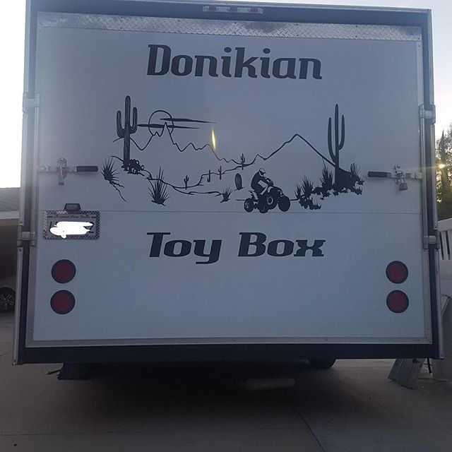 Our Toy Hauler Custom Sticker We Did This Was A Fun Project