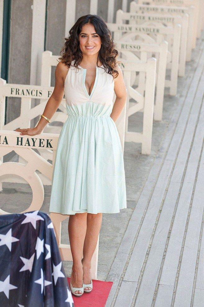 Salma Hayek Summer Dress