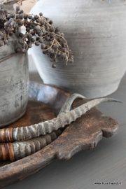 Antieke houten schaal