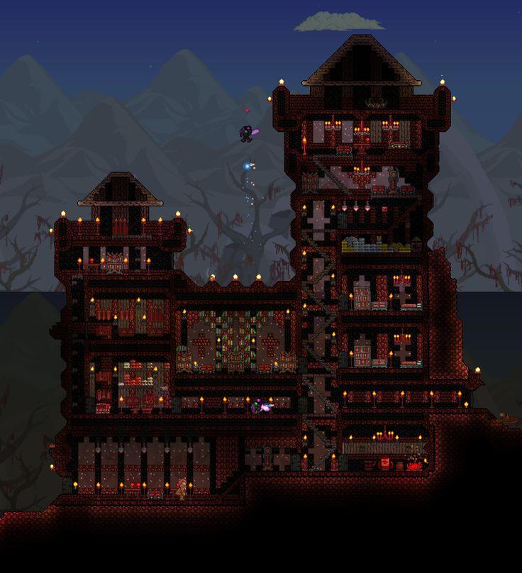 Terraria Base Inspiration: 233 Best Terraria Building Inspiration Images On Pinterest